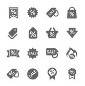 Discount tags icons — Stock Vector