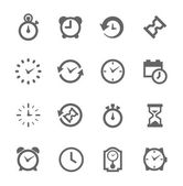 Simple Icon set related to Time — Stock Vector