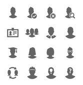Basit simge kullanıcılara ilgili ayarla — Stok Vektör