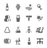 Simple Icon set related to Wine Production — Stock Vector
