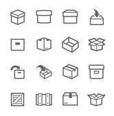 Box and crates icons — Stock Vector