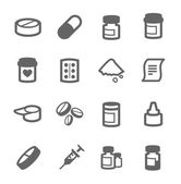Pharma icons — Stock Vector