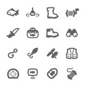 Fishing icons — Stock Vector