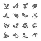 Plants icons — Vector de stock