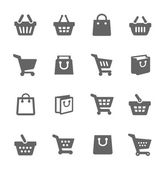 Shopping Bags and Carts — Stock Vector