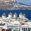 Mykonos windmills — Stock Photo