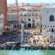 Stock Photo: Crowded SMarco square in Venice