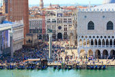 Crowded San Marco square in Venice — Stock Photo