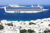Cruise ship in the Mediterranean — Stock Photo