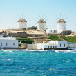 Stock Photo: Mykonos windmills