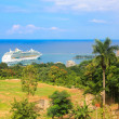 Stock Photo: Cruise ship in Jamaica