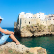 Tourist in Polignano a Mare - Stock Photo