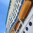 Stock Photo: Life rafts of big cruise ship