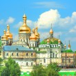 Golden domes of Kiev-Pechersk monastery in Kiev — Stock Photo