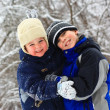 Stock Photo: Cute brothers hugging