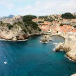Dubrovnik rocky shore line — Stock Photo