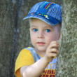 Little boy with big blue eyes — Stock Photo