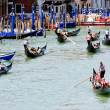Gondola traffic jam — Stock Photo