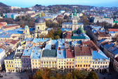 Lviv old town from above — Stock Photo