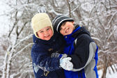 Cute brothers hugging — Stock Photo