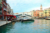 Rialto bridge and Grand canal in Venice — Stock Photo