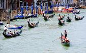 Gondola traffic jam — ストック写真