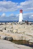 Peggy's Cove lighthouse in Nova Scotia — Stock Photo
