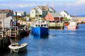 Peggy's Cove fishing village in Nova Scotia — Stock Photo