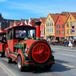 Sightseeing train in Bergen — Stock Photo