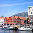 Stock Photo: Bryggen waterfront and harbor