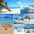Travel to the Caribbean collage — Stock Photo
