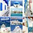 Travel to Greece collage — Stock Photo