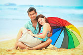 Love couple on the beach — Stock Photo