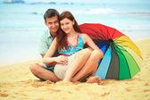Love couple on the beach — Stock Photo