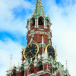 The Spasskaya Tower of Kremlin, Moscow — Stock Photo