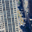 Traffic in Manhattan areal view — Stock Photo