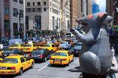 New York city yellow cabs — Zdjęcie stockowe