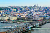 Istanbul and Galata bridge — Stock Photo
