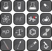 Chemistry icons — Stock Photo