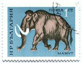 Stamp with mammoth — Stock Photo