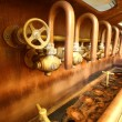 Taps in brewery — Stock Photo #49564309