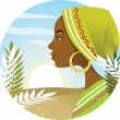 African Woman — Stock Vector