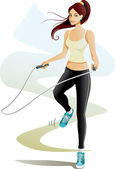 Jump Rope — Stock Vector
