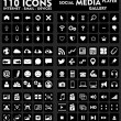 Stock Vector: Internet & Social Medi- 110 Icons Set
