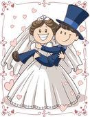 婚礼邀请几个 — 图库矢量图片