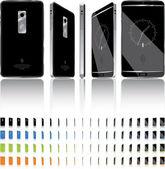 Smart Phone 3D Rotation - 21 Frames — Stock Vector