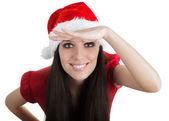 Christmas Girl Scouting — Stock Photo