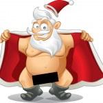 Crazy Santa - Vector Cartoon — Stock Vector #35967357