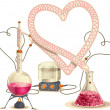 Love Chemistry - Vector Illustration — Stock Vector