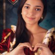 Stock Photo: Queen of Hearts Portrait